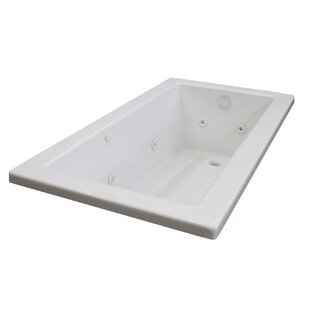 Guadalupe 66 inch  x 32 inch  Rectangular Whirlpool Jetted Bathtub with Drain