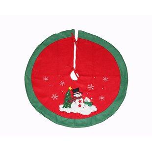 embroidered fleece christmas tree skirt - Peacock Christmas Tree Skirt