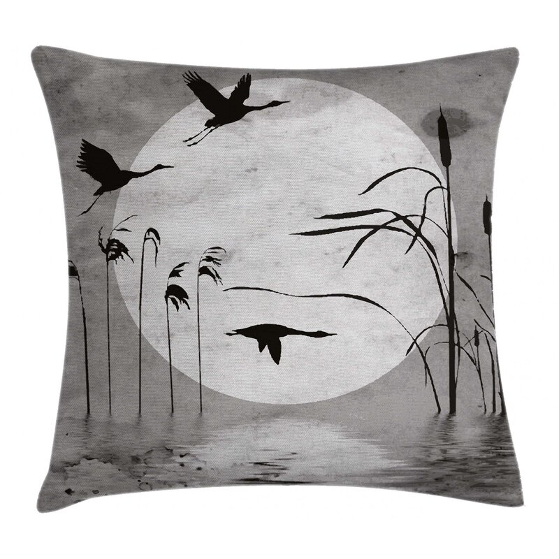 East Urban Home Sunset Horizon Background Flying Heron Indoor Outdoor 40 Throw Pillow Cover Wayfair