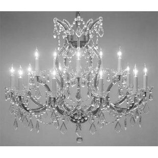 Guide to buy Alvarado Trimmed 16-Light Candle Style Chandelier By Astoria Grand