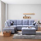 Breitberg 103.5'' Modular Sofa & Chaise with Ottoman by Latitude Run®