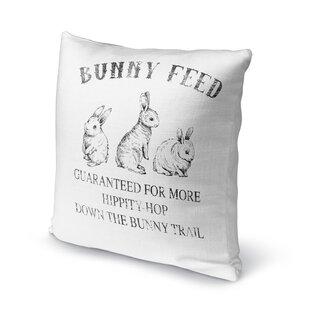 Colberta Bunny Feed Indoor/Outdoor Throw Pillow