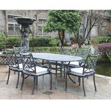 Waconia 7 Piece Dining Set with Sunbrella Cushions