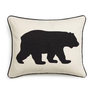 Bear Cotton Lumbar Pillow
