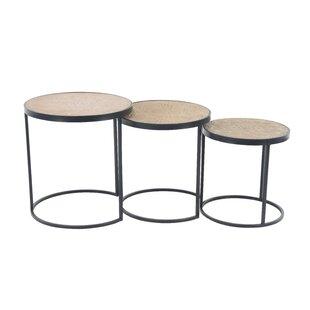 Okemah Modern Round 3 Piece Nesting Tables