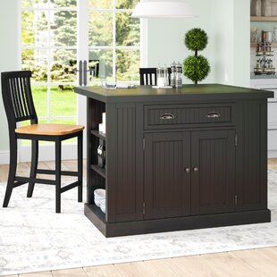 Rabin Kitchen Island with Granite Top