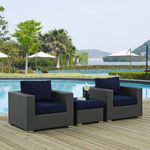 Tripp 3 Piece Sunbrella Sofa Set with Cushions