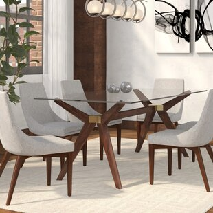 Langley Street Adam Glass Dining Table