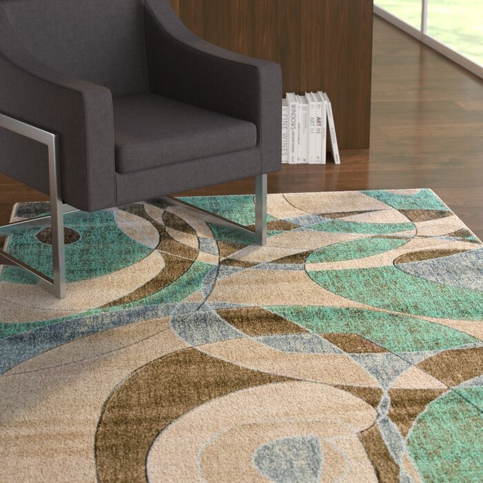 Carina Brown Turquoise Area Rug