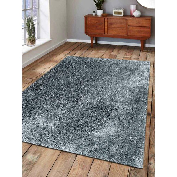 Ebern Designs Housel Handmade Tufted Light Blue Rug Wayfair