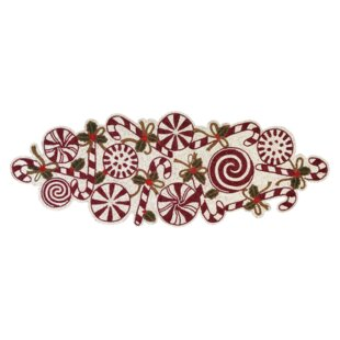 Ismail Candy Cane Beaded Table Runner