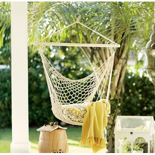 Parker Woven Cotton Chair Hammock by Beachcrest Home Wonderful