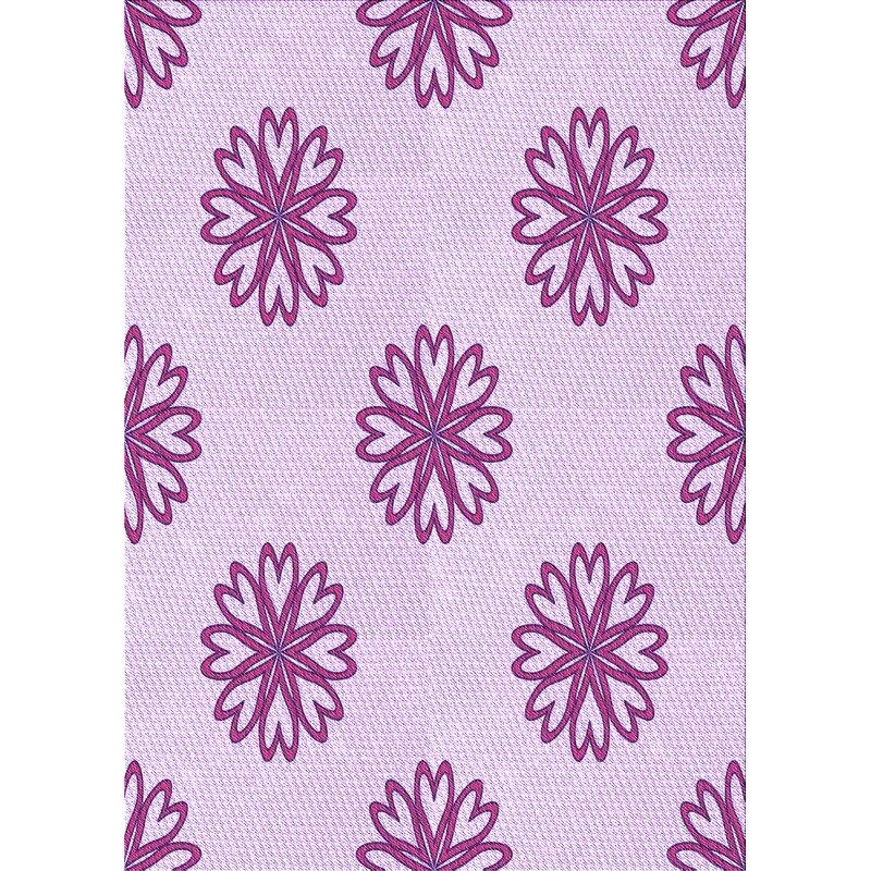East Urban Home Floral Wool Purple Pink Area Rug Wayfair