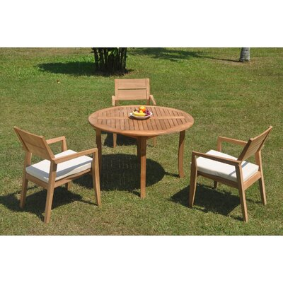 Reposa 4 Piece Teak Dining Set by Rosecliff Heights Herry Up