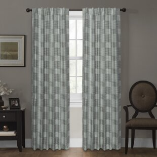 Mccleskey Certified Platinum Geometric Blackout Single Curtain Panel by Ebern Designs