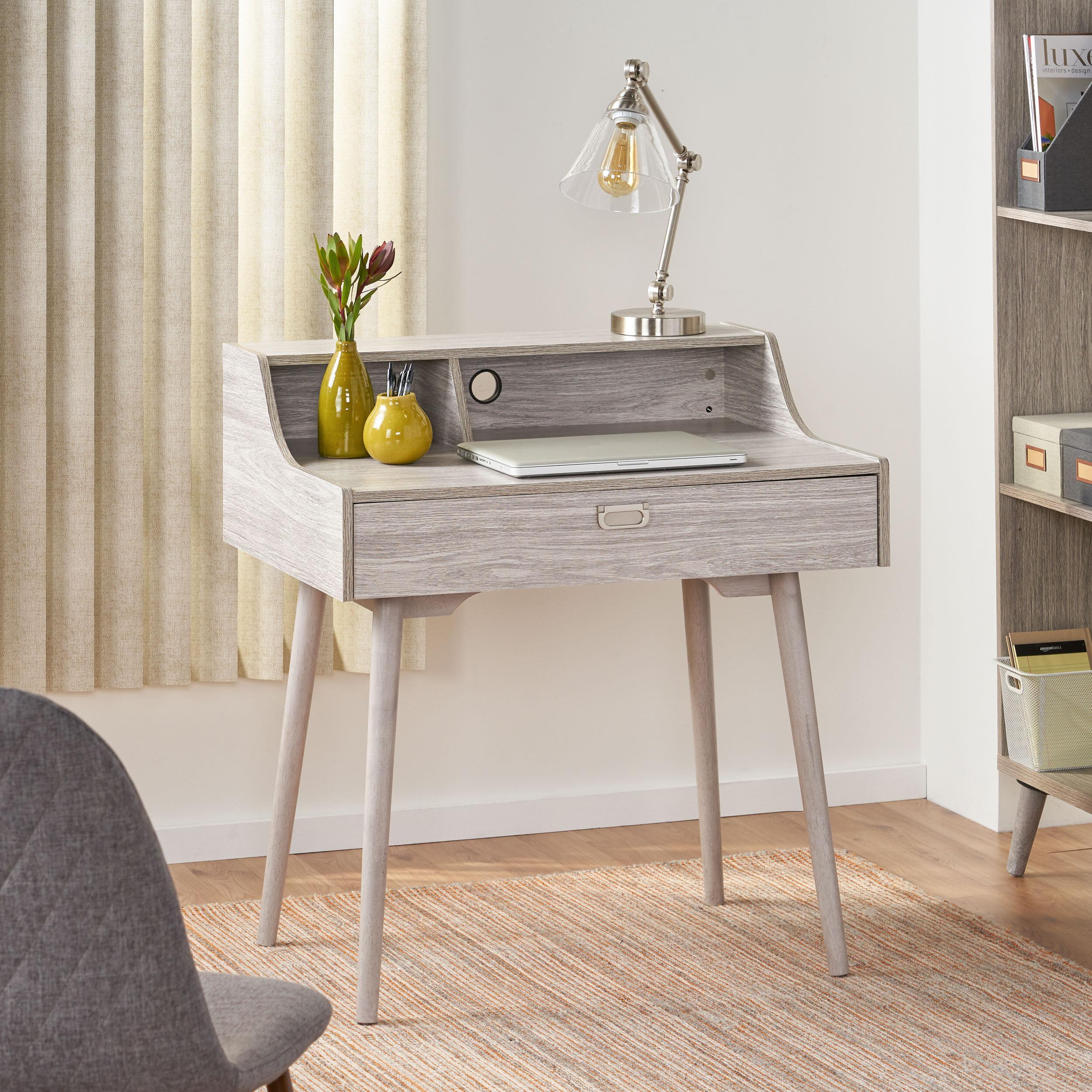 Picture of: Mid Century Modern Secretary Roll Top Desks You Ll Love In 2020 Wayfair