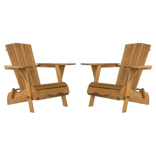 Highland Dunes Boonville Solid Wood Adirondack Chair (Set of 2)