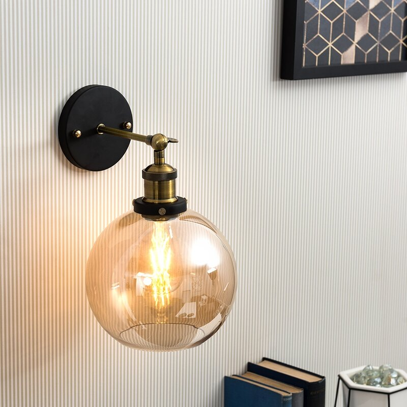Lila Steampunk 1 Light Armed Sconce