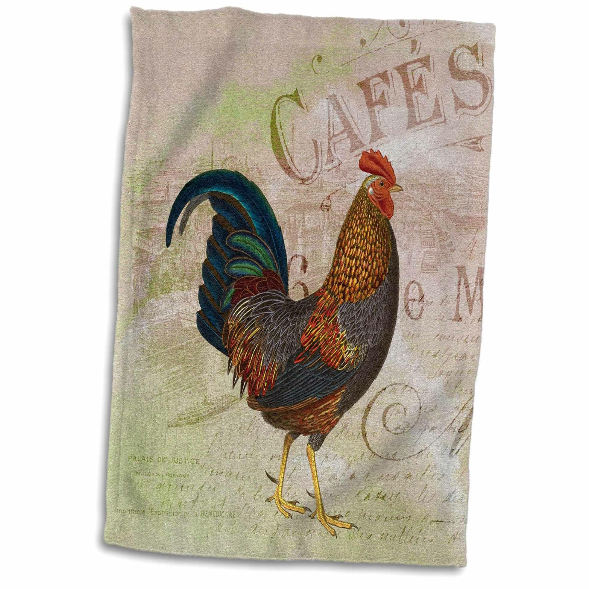 Symple Stuff Kohan French Rooster Café Hand Towel Wayfair