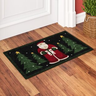 Read Reviews Groveland Santa Black Area Rug By Charlton Home