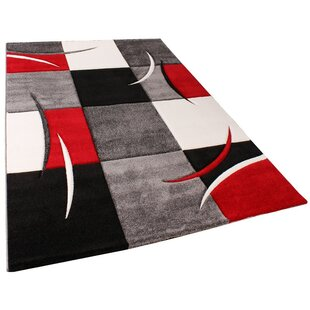 Estefania Red/Black/Grey Rug by Longweave