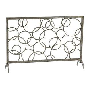Single Panel Iron Fireplace Screen by Cyan Design