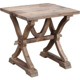 Stenya Solid Wood Trestle End Table by Birch Lane™
