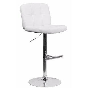 Reuben Adjustable Height Swivel Bar Stool by Orren Ellis 2019 Online