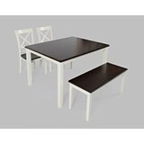 Jagger 4 - Piece Acacia Solid Wood Dining Set by Breakwater Bay
