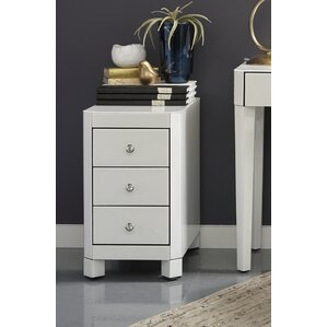 Thurston Reverse Painted Glass End Table by ..