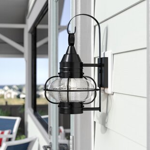 Withyditch Traditional Outdoor Wall Lantern by Breakwater Bay