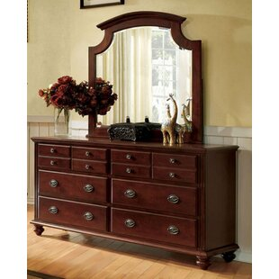 Ortiz 6 Drawer Double Dresser with Mirror