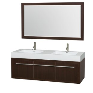Axa 60 Double Espresso Bathroom Vanity Set with Mirror by Wyndham Collection