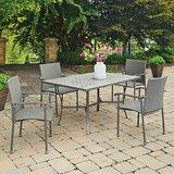 Coupland Concrete Tile 5 Piece Dining Set