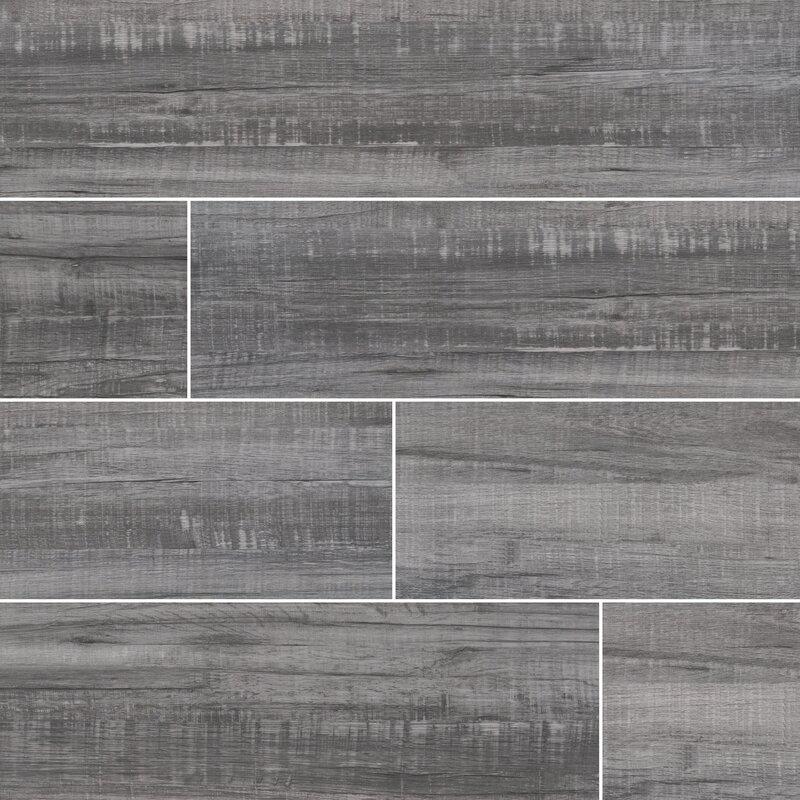 Msi Belmond Mercury 8 X 40 Ceramic Wood Look Tile In Gray Wayfair