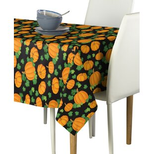 Elzy Pumpkin Patch Scroll Milliken Signature Tablecloth by The Holiday Aisle