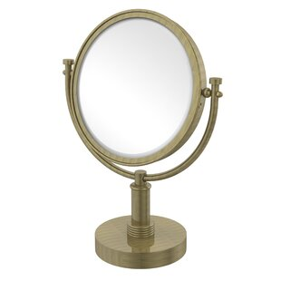 Compare & Buy Vanity Top Make-Up Magnification Mirror with Groovy Detail ByAllied Brass