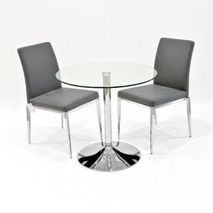 Andreas Dining Set With 2 Chairs By Metro Lane