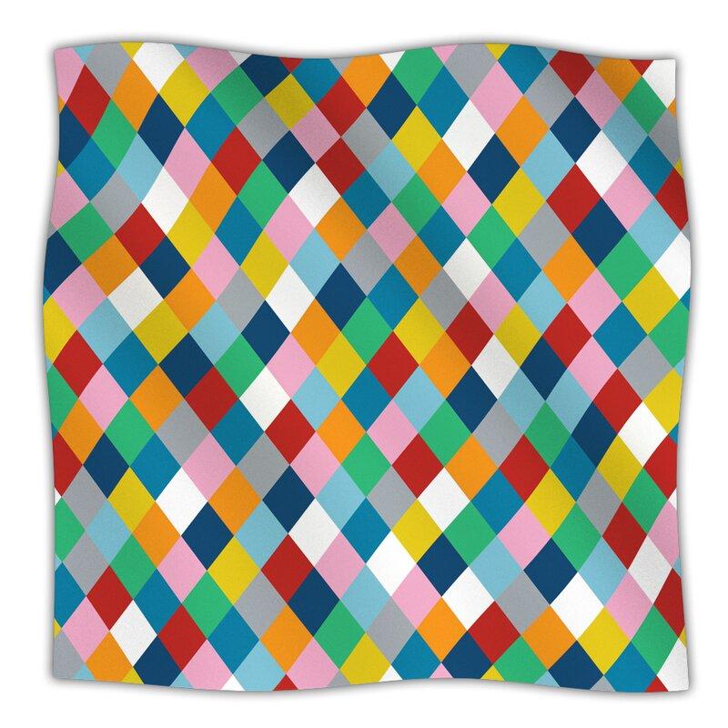 finest selection ef4db 7e674 KESS InHouse Harlequin Zoom Throw Blanket   Wayfair