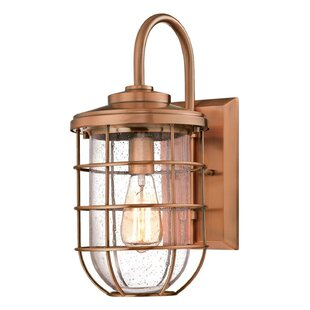 Woolverton 1-Light 60W Cage Outdoor Wall Lantern