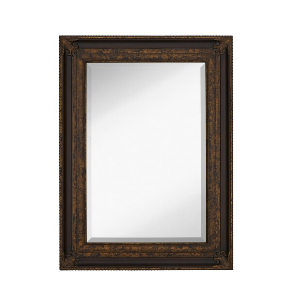 Majestic Mirror Rectangular Antique Gold Leaf With Dark Brown Panel Frame Wall Wayfair
