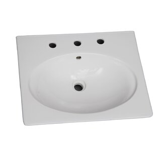 Deals Opulence Vitreous China 23 Pedestal Bathroom Sink with Overflow By Barclay
