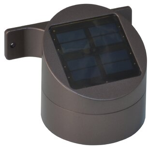 Solar Powered LED Wall Mount Deck Sconce Flood Light