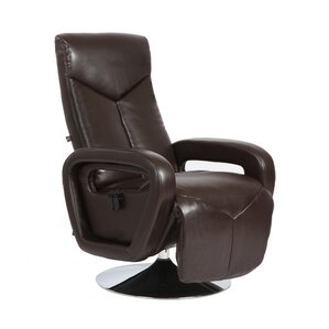 Palermo Manual Swivel Recliner With Ottoman