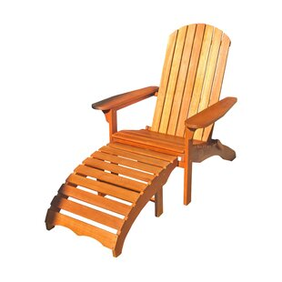 Breakwater Bay Sabbattus Adirondack Chair with Ottoman