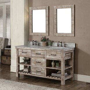 Reviews Clemmie 61 Double Bathroom Vanity Set ByLaurel Foundry Modern Farmhouse