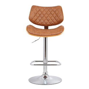 Jules Adjustable Height Swivel Bar Stool Orren Ellis