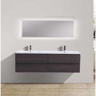 Lina 71 Wall Mounted Double Bathroom Vanity Set By Orren Ellis