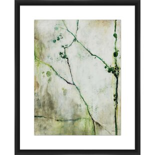 Green Branches Shadowbox Framed Painting Print