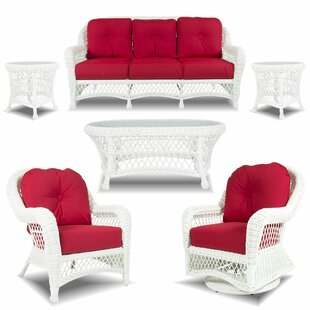 Bayou Breeze guinn 6 Piece Rattan Sofa Set with Sunbrella Cushions